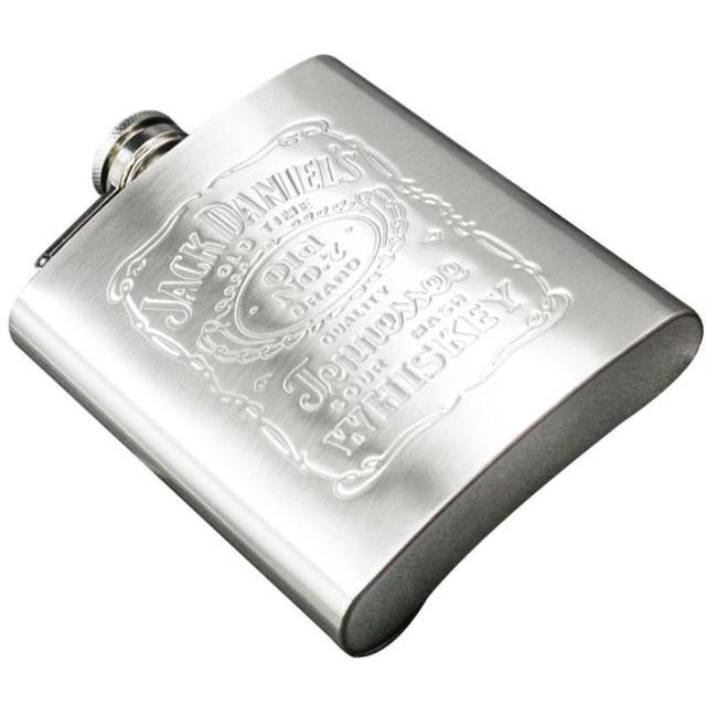 ポータブルステンレス鋼のヒップフラスコ 7 オンスロシアワインマグ Wisky ボトルボックスポケット箸置きでアルコールボトルドロップシッピング