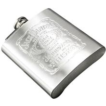 Stainless Steel Wine Hip Flask 7oz Travel Alcohol Whisky Pocket Silver Color Bottles MS351