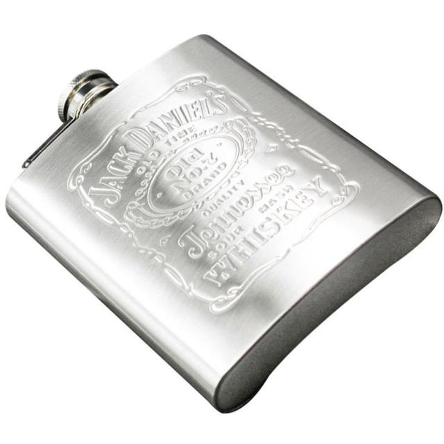 Portable Stainless Steel Hip Flask 7oz Russian Wine Mug Wisky Bottle With Box Pocket Drinkware Alcohol Bottle Drop Shipping