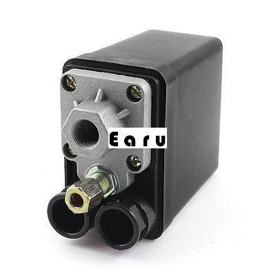 Factory Supplied AC 240V 20A 175 PSI 12 Bar 4 Port Air Compressor Pressure Switch Control Valve 13mm male thread pressure relief valve for air compressor