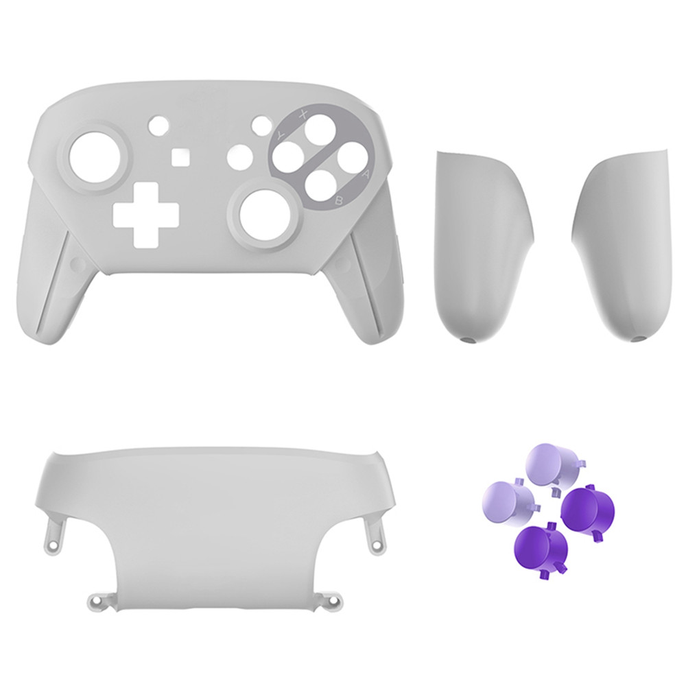Protective Housing Case for Nintendo Switch Pro Controller 5 Colors Replacement Shell Cases With Buttons Handles Cover Caps replacement shell case with buttons for nintendo switch pro controller anti scratch plastic handles cover protective case cover