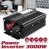 Autoleader Solar Inverter 12V 220V 3000W P eak car Inverter Power Voltage Transformer Converter Sine Wave for car truck