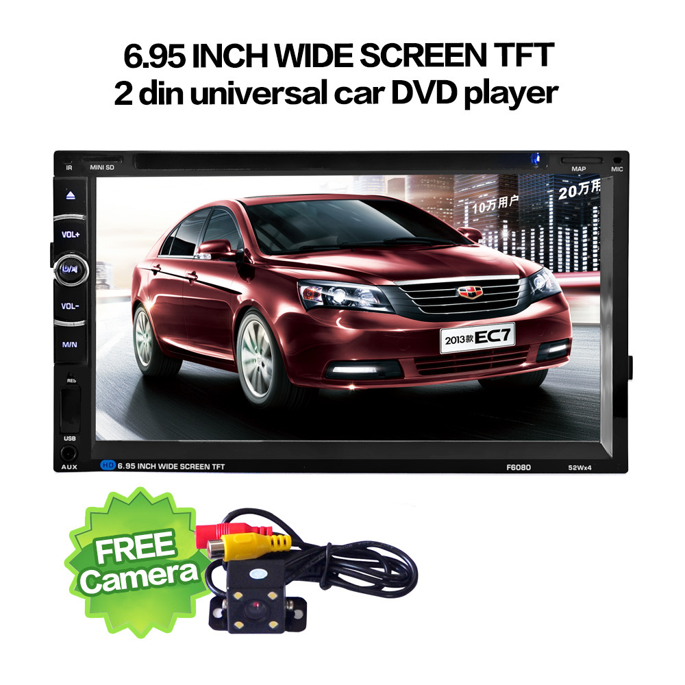 7'' Double 2 Din Touchscreen In dash Car Stereo Radio Mp3 CD DVD Player FM Aux+Camera Fashion Item 17Sept14 niorfnio portable 0 6w fm transmitter mp3 broadcast radio transmitter for car meeting tour guide y4409b