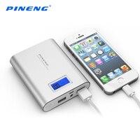 PINENG 18650 10000mAh Mini Dual USB Power Bank Portable Mobile Phone Charger Powerbank For IPhone Xiaomi