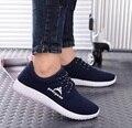 Hombres de la manera slip on sport mesh zapatos de verano fresco respirable masculina zapatos deportive zapatilla informal hombres azules zapatos de calle