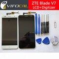 """Для ZTE Blade V7 ЖК-дисплей с сенсорным экраном Датчик + инструменты 100% Новый Замена Дигитайзер Для ZTE Blade V7 5.2 """"мобильный Телефон"""
