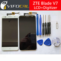 "For ZTE Blade V7 LCD display touch screen Sensor + Tools 100% New Digitizer Replacement For ZTE Blade V7 5.2"" Mobile Phone"