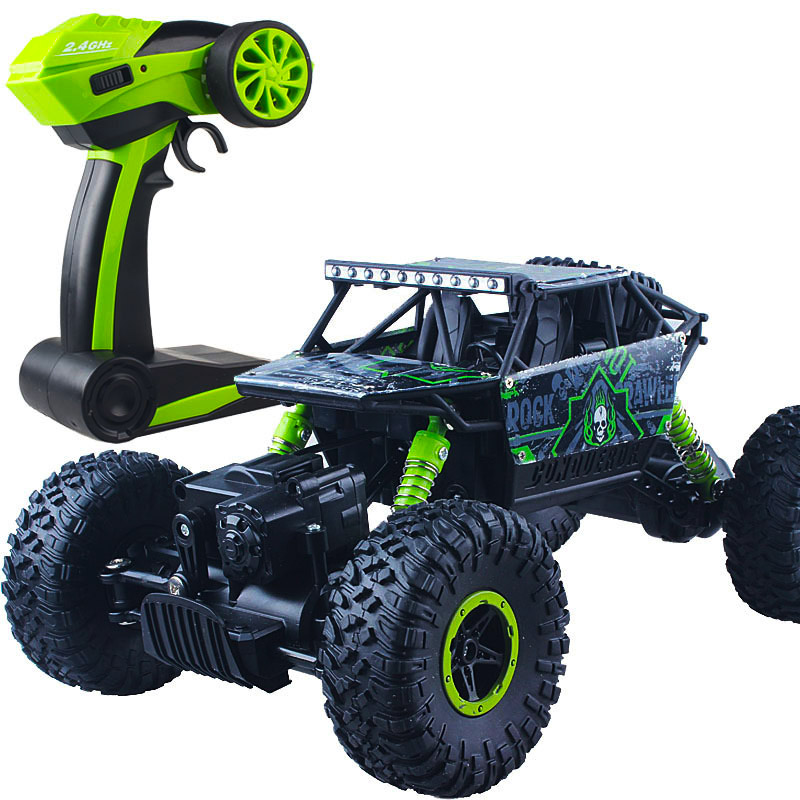 Climbing Rc Car 4WD 2.4GHz Rock Rally 4x4 Double Motors Bigfoot Car Remote Control Model Off-Road Vehicle Toy 004