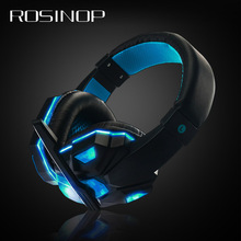 Rosinop 3.5mm hifi Gaming Headset With Microphone Gamer Bass Headphones For Computer Noise Canceling Wired auriculares con cable цена 2017