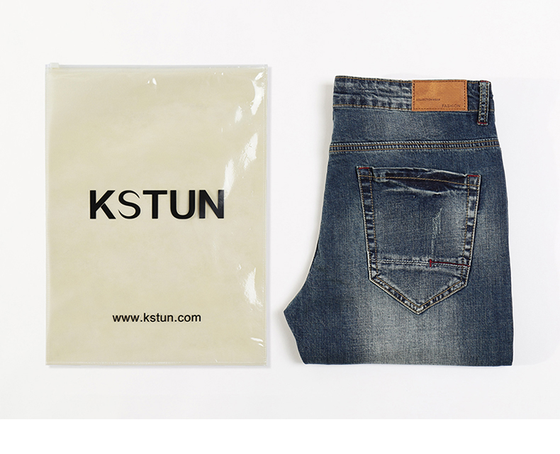 KSTUN Jeans Men Slim Straight Spring Summer Long Trousers Elastic Europe and American Style Vintage Classic Denim Pants Homme 40 19