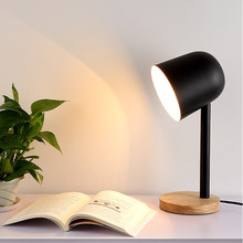 Modern art deco painted Nordic simple style creative desk Lamps E27 LED 220V mini Table Lamp for Reading bedside home bedroom(China)
