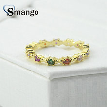 5Pieces Women Fashion Jewelry,The Rainbow Series,The Colour Spacer Ring,Gold Color, Can Wholesale