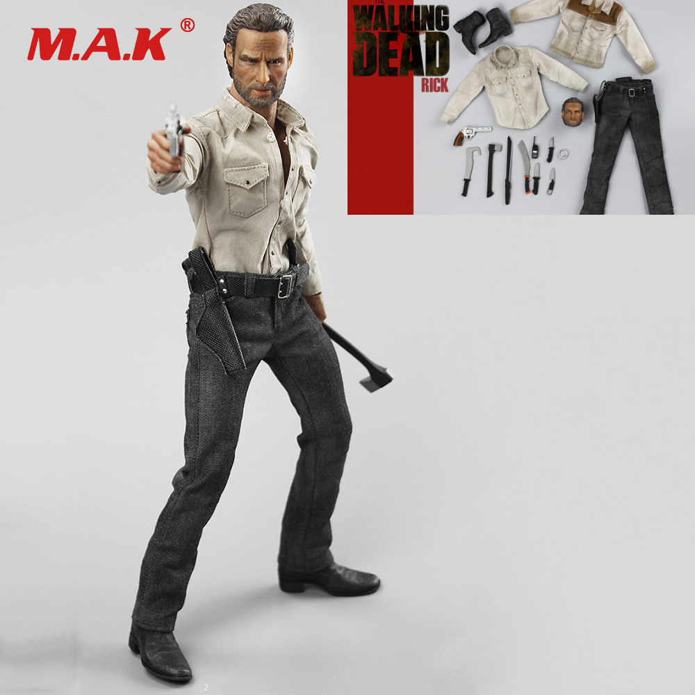 1/6 Scale Male Clothes Set H-04 The Walking Dead Season 4 Rick Clothing and Weapon Set No body for 12inches Man Figure Body 1 6 scale the walking dead negan full set action figures body