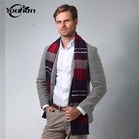 YOUHAN 2018 New Brand Scarf Luxury Designer Men Classic Business Warm Cashmere Scarfs Soft Shawl Wrap Winter Scarves