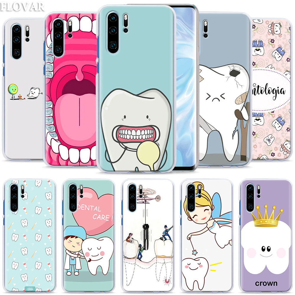 Dentist Teeth Tooth Phone <font><b>Case</b></font> coque for <font><b>Huawei</b></font> P30 Pro <font><b>P10</b></font> P20 P30 Lite P8 P9 Lite P Smart Plus <font><b>case</b></font> image