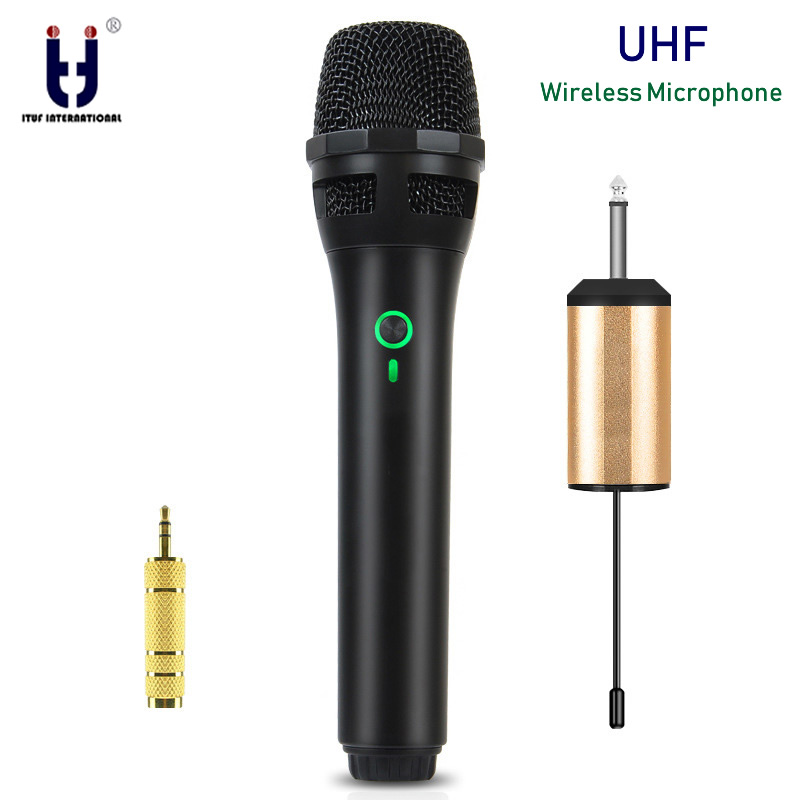 ituf uhf wireless microphone system handheld mic uhf speaker with portable usb receiver for ktv. Black Bedroom Furniture Sets. Home Design Ideas