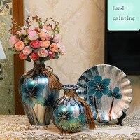 3pcs / Set Ceramic Vase Europe creative Tabletop Vase Wedding Gifts vases decoration home Handicraft Furnishing Articles