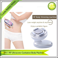 Mini Handheld Ultrasonic Slimming RF Radio Frequency Skin Tightening Firming Slimming Massager With Led Light Photon