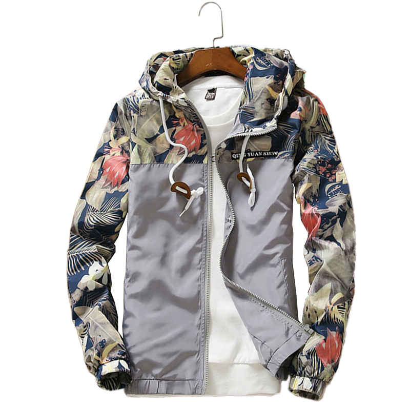 Floral Jacket 2019 Autumn Mens Hooded Jackets Slim Fit Long Sleeve Homme Trendy Windbreaker Coat Brand Floral Jacket 2019 Autumn Mens Hooded Jackets Slim Fit Long Sleeve Homme Trendy Windbreaker Coat Brand Clothing Drop Shipping