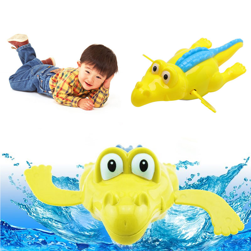 New 1Pc Children Baby Bathing Float Crocodile Animal Clockwork Toy Funny For Kids Funny Gift W15