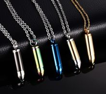 Модные 5 цветов пара может быть открыта ожерелья с пулей для