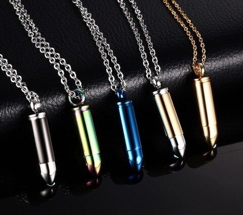 Купить модные 5 цветов пара может быть открыта ожерелья с пулей для