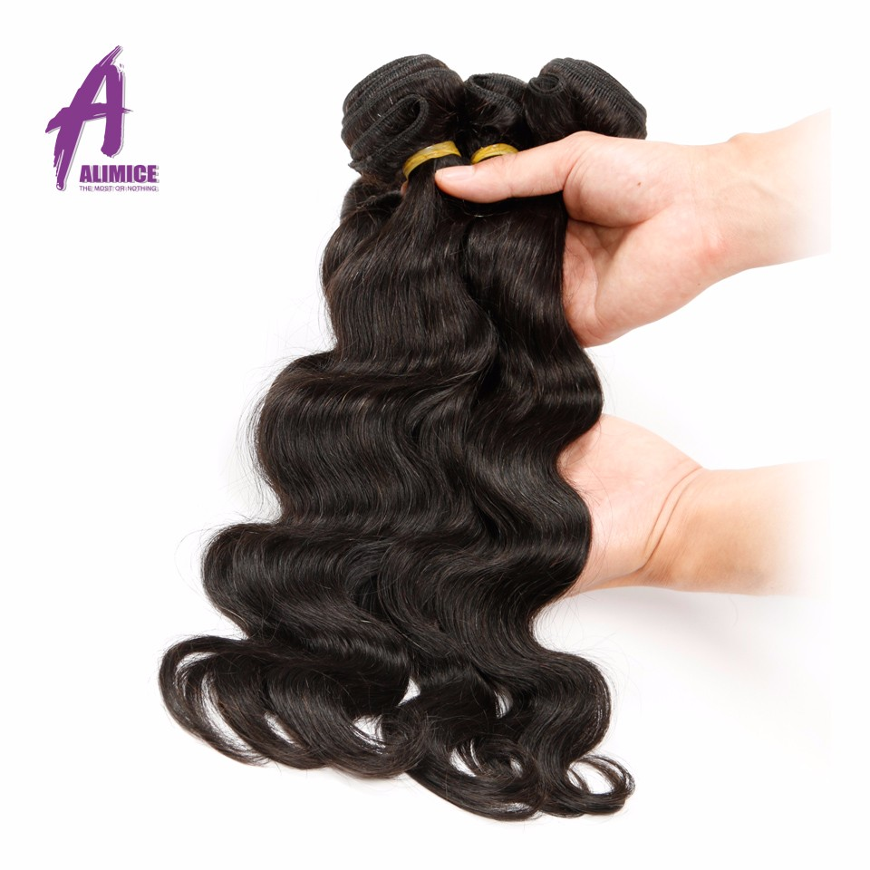 Brazilian Virgin Hair Body Wave 4 Bundles brazilian hair weave bundles 100% Unprocessed Virgin Human Hair Bundles Brazilian  Body Wave Alimice (5)