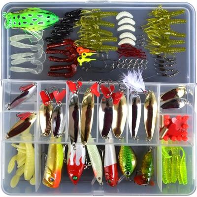 Lizard Fishing fishing lures set(MinnowCrankpencilpopperVIBSpoonssoft lureshooksaccessory etc.)Free shipping