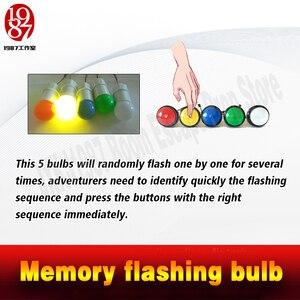 Image 2 - 実生活部屋脱出小道具メモリ点滅電球メモリボタン blubs からエスケープパズル JXKJ1987 冒険ゲーム