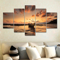 5 Panel Modern Canvas Print Seascape Painting Wall Art Picture Canvas Art Home Decor Modular Painting