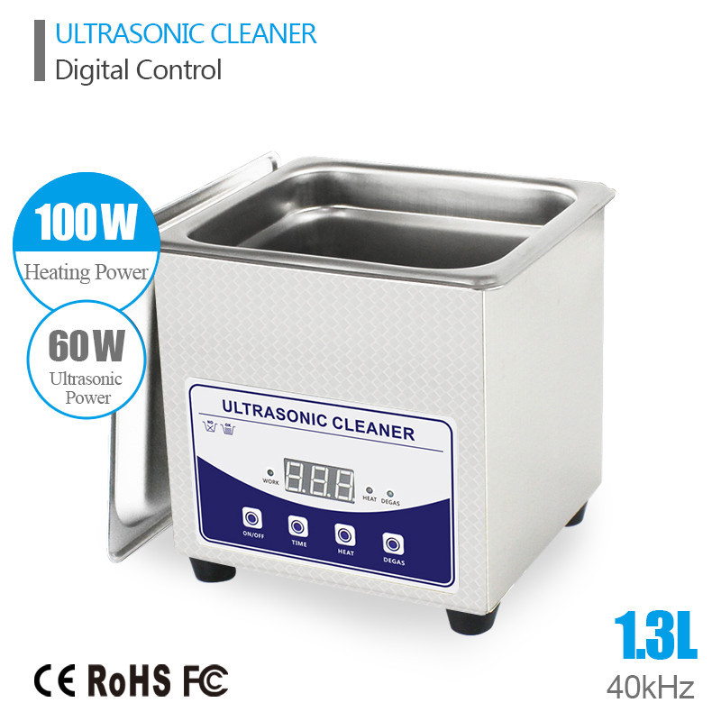 1.3L Ultrasonic Cleaner Cleaning Baskets Jewelry Watches Dental PCB 60W 40kHz Ultrasonic bath Digital Heated Ultrasonic Cleaner ultrasonic bath cleaner 0 75l tank baskets jewelry watches injector ring dental pcb 35w 42khz digital mini ultrasonic cleaner