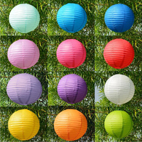 10pcs/lot 12 inch 30cm Round Chinese Paper Lantern for Birthday Wedding Decoration Party Decor Gift Craft DIY Toy for Children