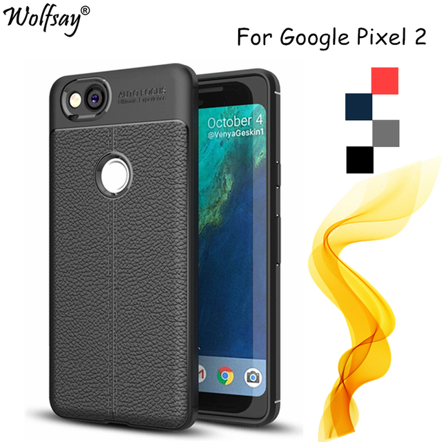 """Wolfsay sFor Case Google Pixel 2 Case 5.0"""" New Litchi Pattern & TPU Soft Case For Google Pixel 2 Cover For Google Pixel 2 Fundas"""