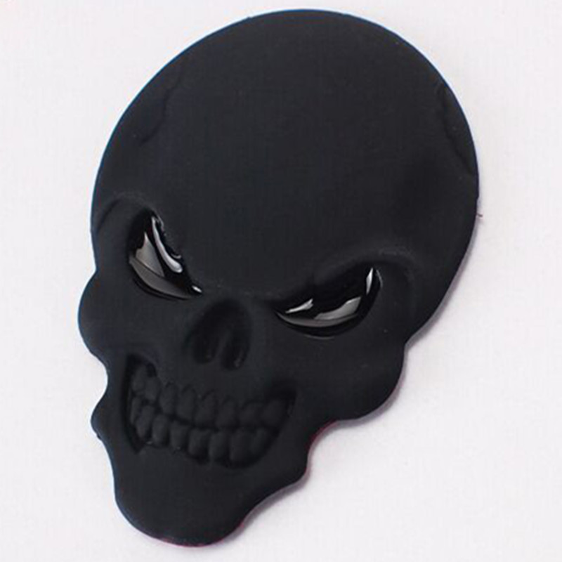 DSYCAR 3D Metal Skull Car Sticker Logo Emblem Badge Decals Car - Exteriör biltillbehör - Foto 3
