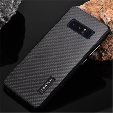 Imatch Case for Samsung note 8 Note8 N9500 case Metal aluminum + Carbon fiber back case cover for Samsung S8 Plus S7 Edge coque