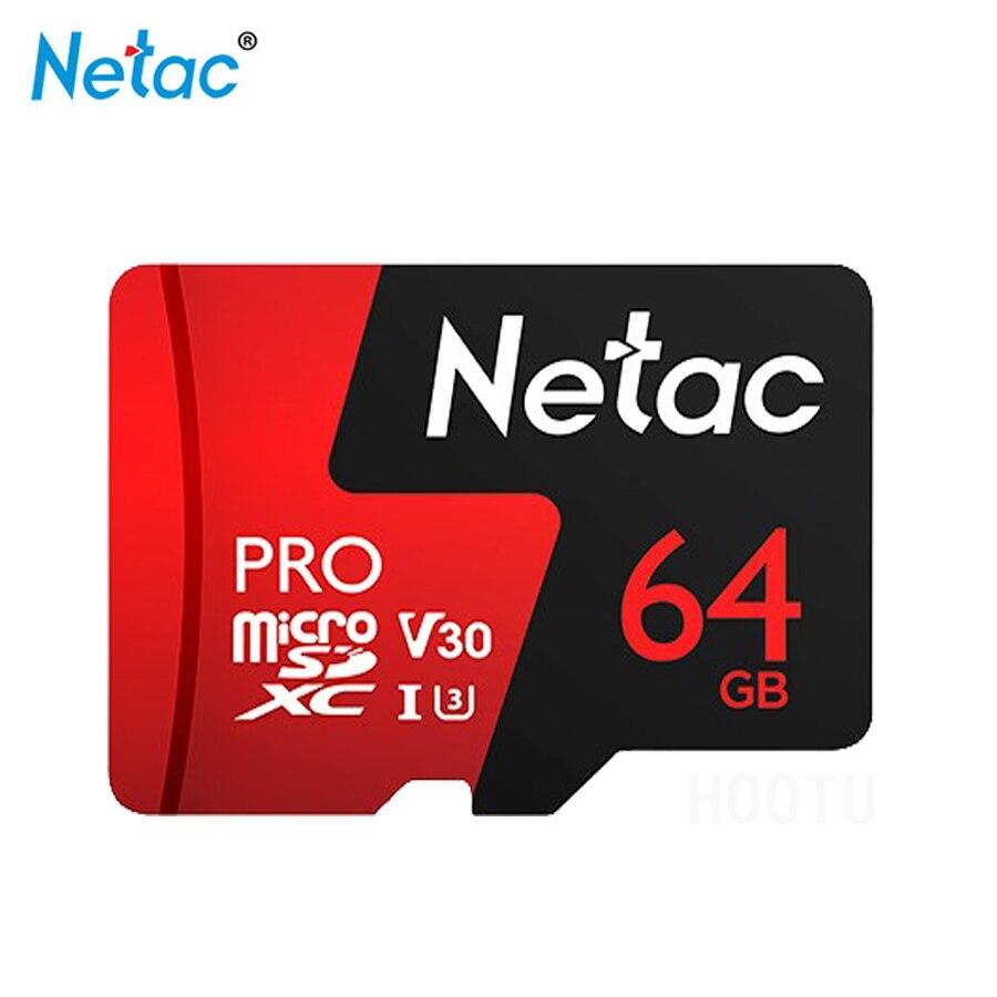 Netac Micro SD Card UHS I P500 64GB TF Card U3 V30 Flash Memory Card Recording Full HD Video & 4K Ultra HD Video