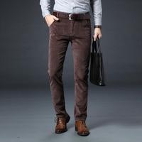 New Autumn Winter Fashion Men Jeans Slim Fit Thick Warm Corduroy Pants Fleece Trousers Male Casual Business Style Long Pants Men