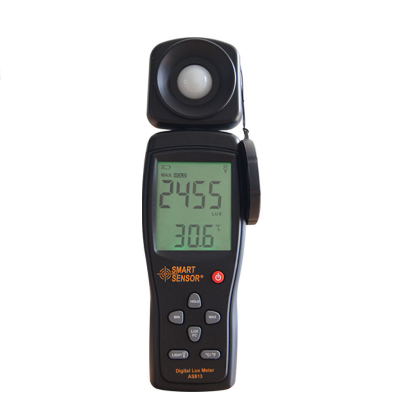 Free Shipping 100,000 Lux Digital LCD backlight Light Meter Lux/FC Measure Tester AS813--industrial grade light sensitive diode smart sensor ar823 digital light lux meter 200 000lux luxmeter luminometer photometer lux fc