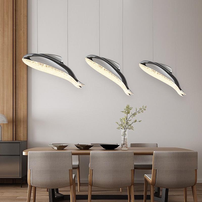 modern brief children bed room dolphin hanging lamp restaurant dining room pendat light lamp 110-240V