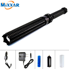 EZK35 Powerful 9000LM LED Flashlight 18650 Battery CREE XM L2 Telescopic Self Defense Police Patrol LED Rechargeable Torch