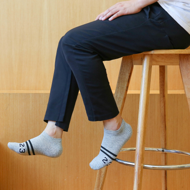 5 Pairs/lot New Fashion Harajuku Brand Socks Men 100% Cotton Socks No. 23 Stripe Happy Socks Men Socks calcetines hombre