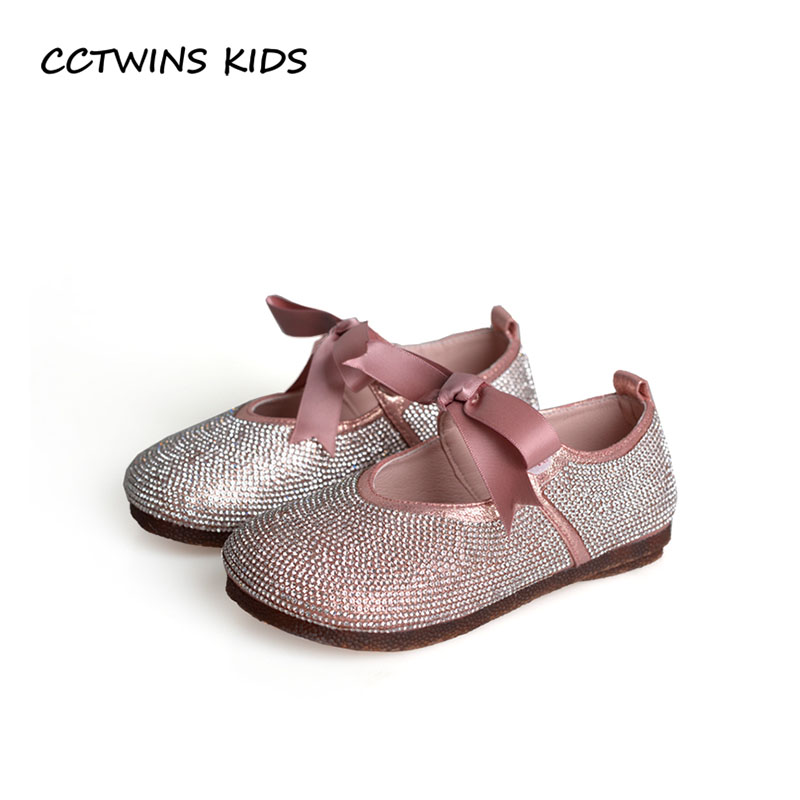 CCTWINS KIDS 2018 Autumn Baby Girl Fashion Butterfly Party Shoe Children Pu Leather Mary Jane Toddler Rhinestone Flat GM2155 wendywu 2017 spring toddler fashion pu leather mary jane baby girl rhinestone princess ballet children heeled shoe black