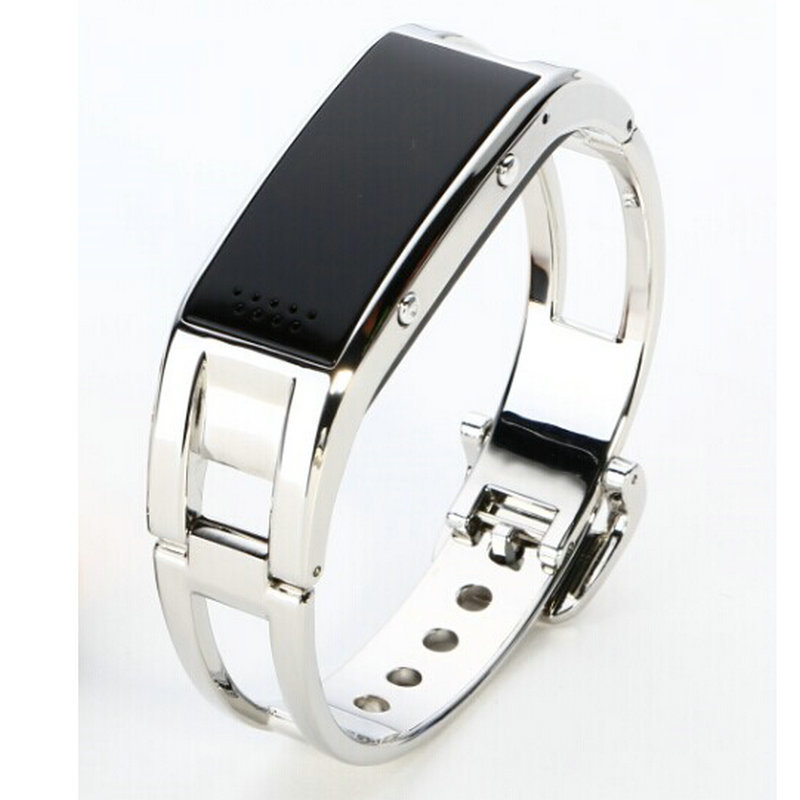 ФОТО New Arrivals smart watch bluetooth hand ring metal thin pedometer electronic LED Digital Girl Outdoor Fashion unisex neutral