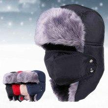 2017 Winter Bomber Hats Ushanka Russian Fur Hat Warm Thickened Ear Fla
