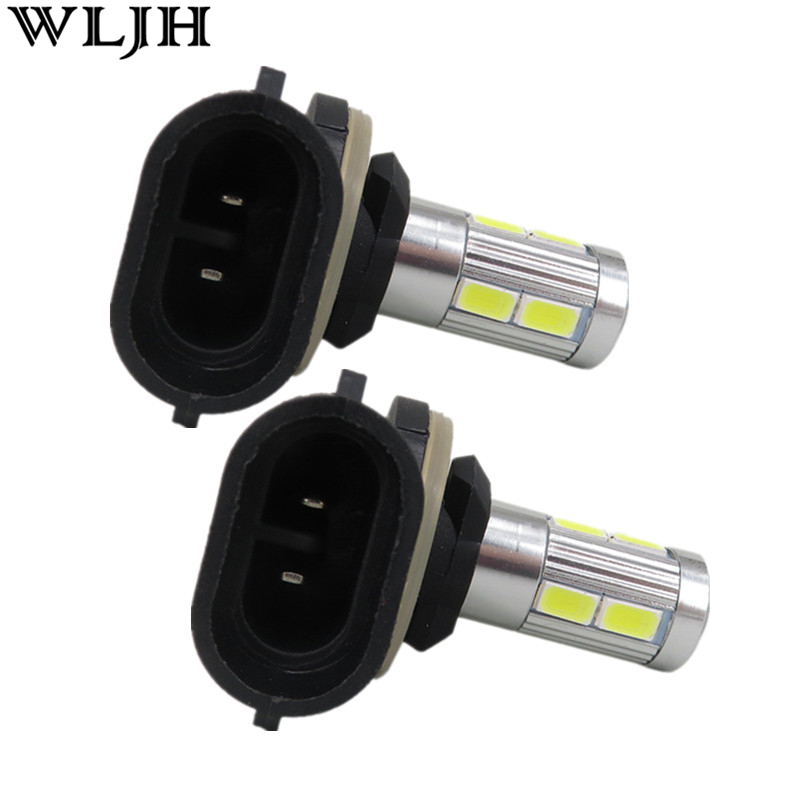 WLJH 2x Car LED 881 H27 5630SMD  XBD Chip Fog Head Bulb Auto Vehicle Parking Reverse Tail Daytime Running Light wljh 2x car led 7 5w 12v 24v cob chip 881 h27 led fog light daytime running lamp drl fog light bulb lamp for kia sorento hyundai