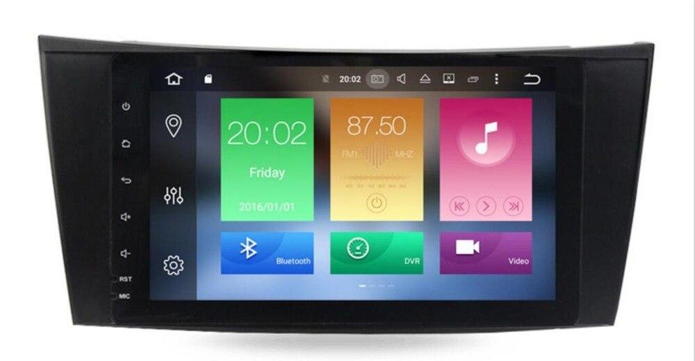 Lecteur multimédia de voiture 9 'ips deux Din lecteur DVD Android 8.1 pour Mercedes/Benz/classe E/W211/E300/CLK/W209/CLS/W219 GPS Radio 16 GB