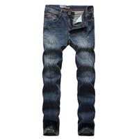 Free Shipping Fashion Men Jeans Famous Brand Designer Pants Slim Biker Men Jeans Zippers Ripped Denim