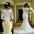 Vintage Long Sleeve Lace Mermaid Wedding Dresses Weeding Weding African Wedding Gowns Bridal Bride Dresses Weddingdress