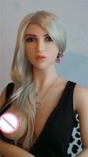 hot 165cm  lifelike full silicone Blonde japanese big big breast  sex doll  love dolls long curved wigs