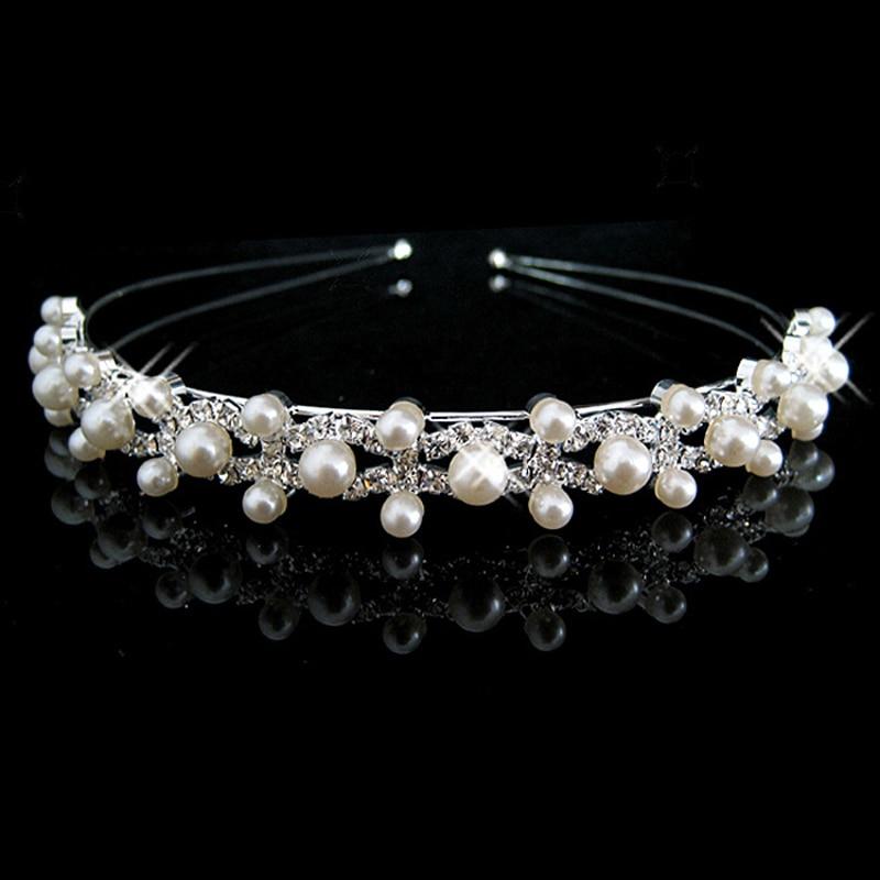1Pcs Crystal Шаштара Tiara Crown Headband Hair Hoop Head Bands - Киімге арналған аксессуарлар - фото 4